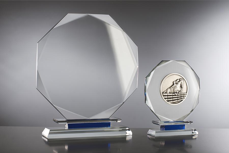 Trofeos de Cristal Octogonal